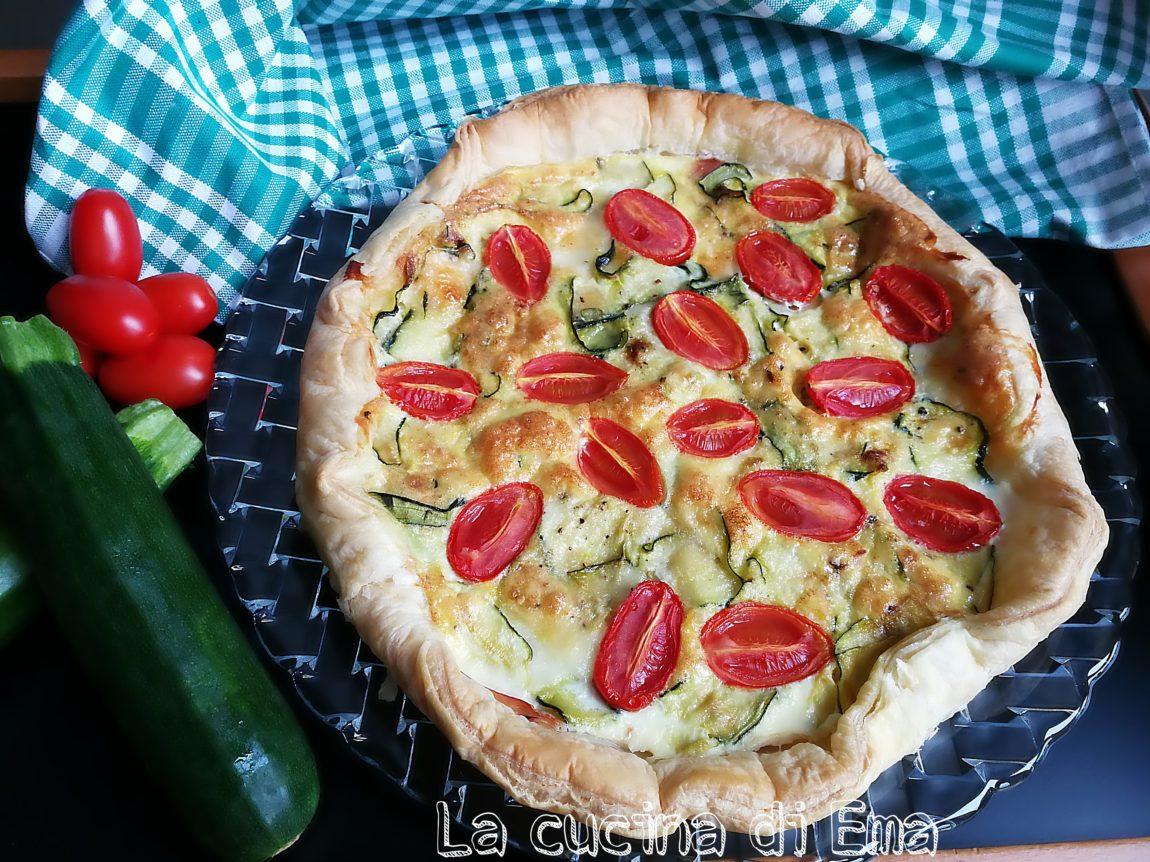 torta-salata-zucchine-pomodorini-mozzarella